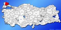 Kırklareli ilinin Türkiye haritasında gösterimi