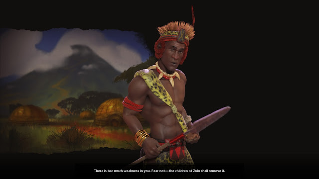 Screenshot of Shaka Zulu from Sid Meier's Civilization VI: Rise and Fall