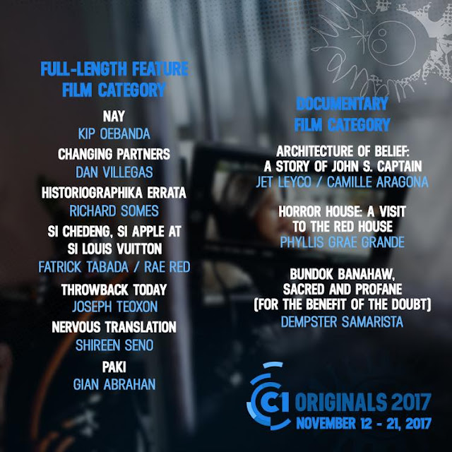 Cinema One Originals 2017 Winners
