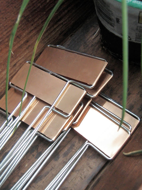 I Bought Three Different Varieties Of Thyme And Want To Mark Each One With  These Beautiful Copper Garden Markers So I Donu0027t Forget Which Is German,  English, ...