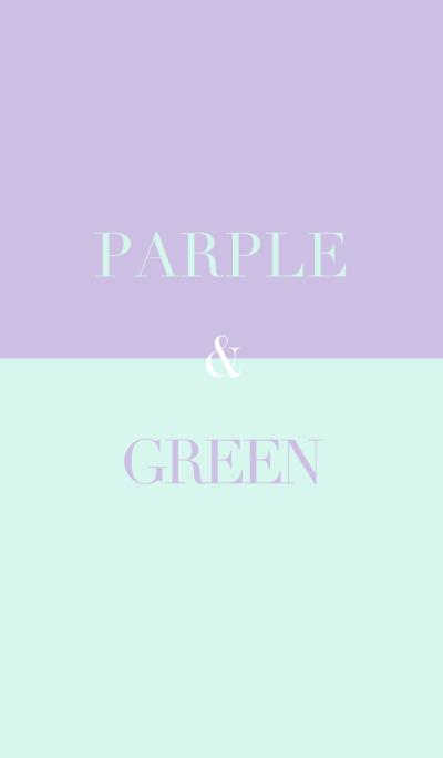 Purple & green .