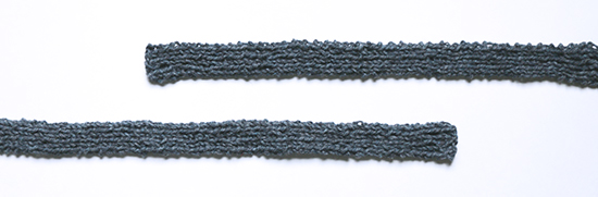 Blue Knit Wool Straps for Tote Bag Before Felting