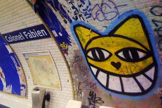 Sunday Street Art : Monsieur Chat - Métro - Station Colonel Fabien - ligne 2 - Paris 19