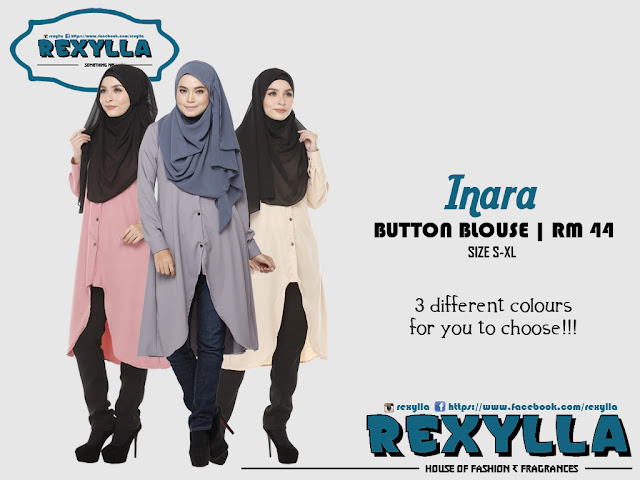 rexylla, button blouse, inara collection