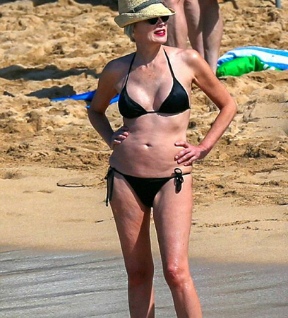 At 58 actress Sharon Stone's bikini body is banging