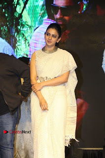 Actress Rakul Preet Singh Stills in White Dress at Winner Pre Release Function  0024.jpg