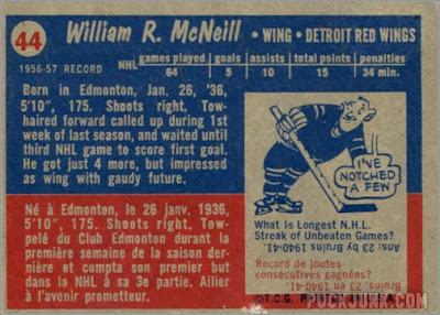 1957-58 Topps #44 - Bill McNeil