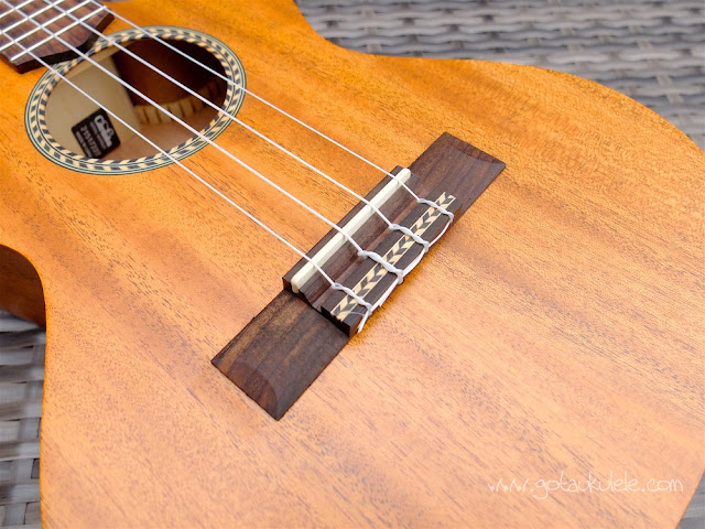 Cordoba 20TM-CE Tenor Ukulele bridge