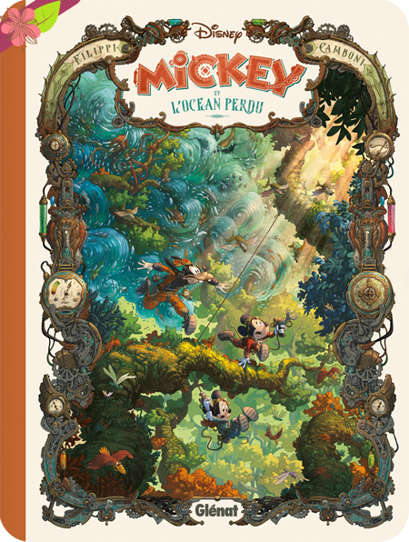 Mickey et l'océan perdu de Denis-Pierre Filippi et Silvio Camboni - Glénat