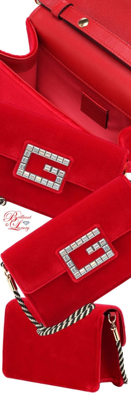 Brilliant Luxury ♦ PANTONE Fashion Color SS 2019 ~ Fiesta ♦ Gucci velvet shoulder bag #red