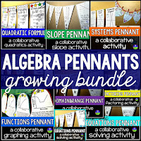 Algebra pennants bundle