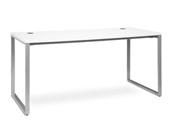 White Writing Desk with Metal Legs