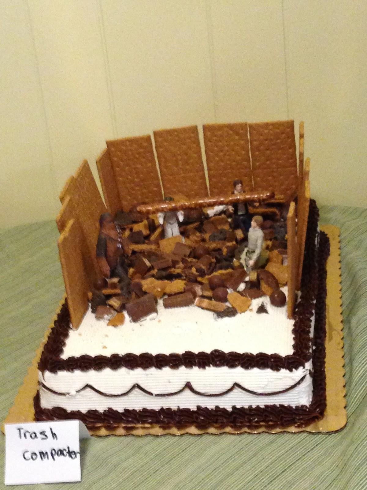 Trash Compactor Star Wars Cake