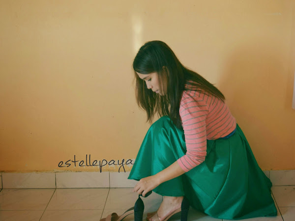 {Outfits Diary} : Emerald green skirt [ Saturday is great alone day]