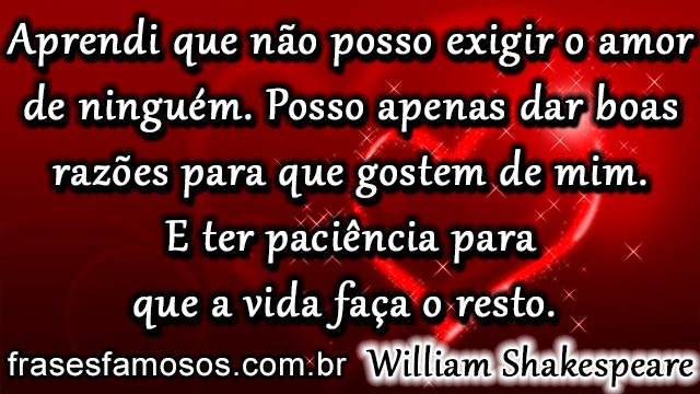 Frases De William Shakespeare Sobre O Amor Frases E Mensagens