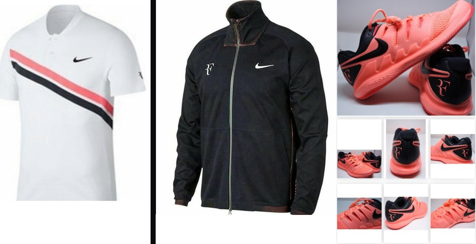 Federer outfit nike for Australian Open 2018