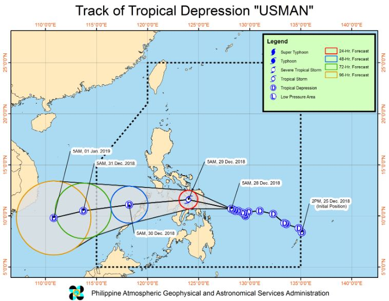 'Bagyong Usman' PAGASA weather update December 28, 2018