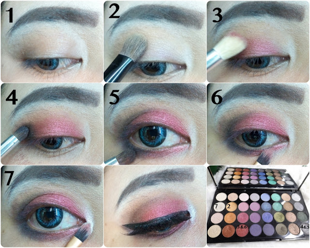 Makeup Revolution Mermaid Forever Eyeshadow Palette tutorial