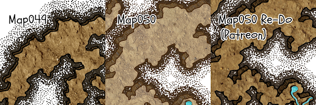Close-up view of map versions