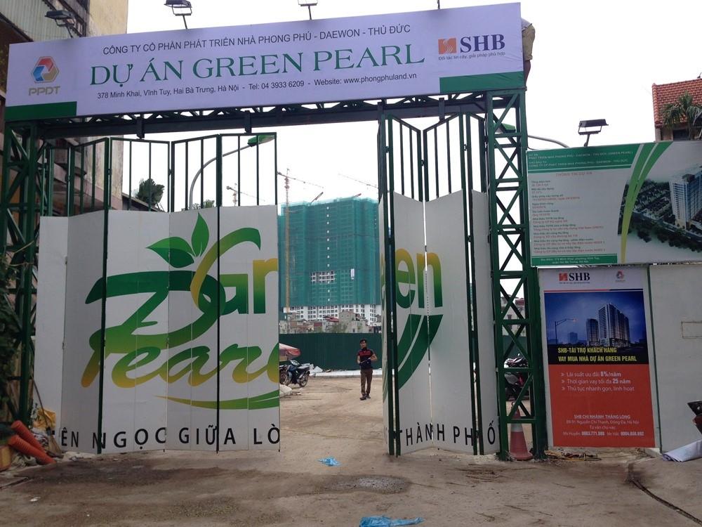 Tiến độ thi công chung cư Green Pearl Minh Khai