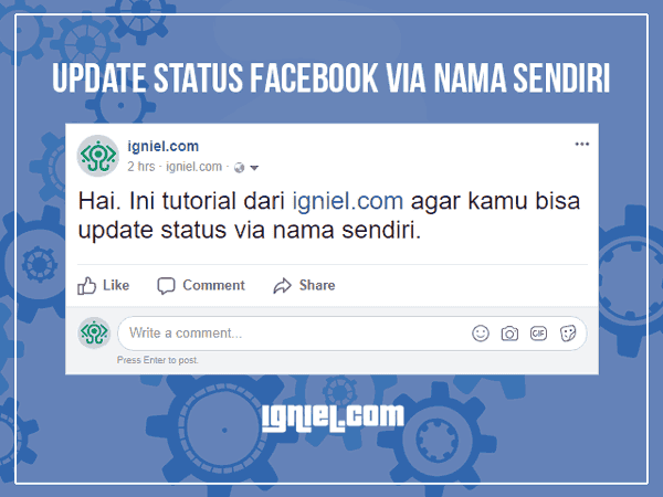 Update Status Facebook Via Nama Sendiri