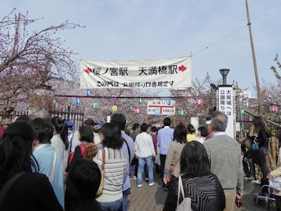 大阪造幣局 桜の通り抜け 公園降り口