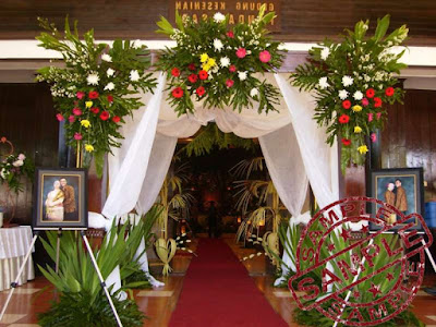 Dekorasi Pernikahan Pada Pintu Masuk