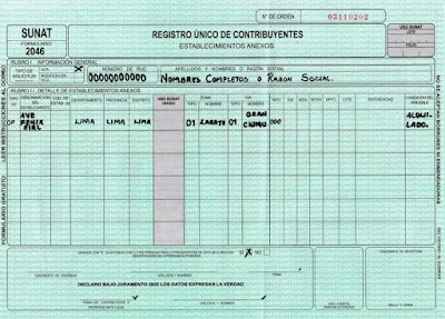 modelo formulario 2046 sunat