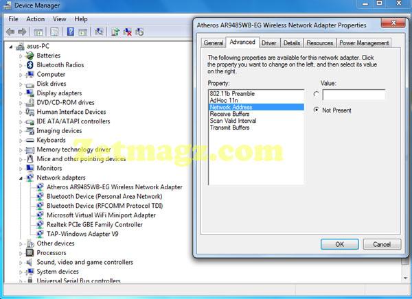 Cara Mudah Merubah Mac Address Wifi Di Windows Tanpa Software