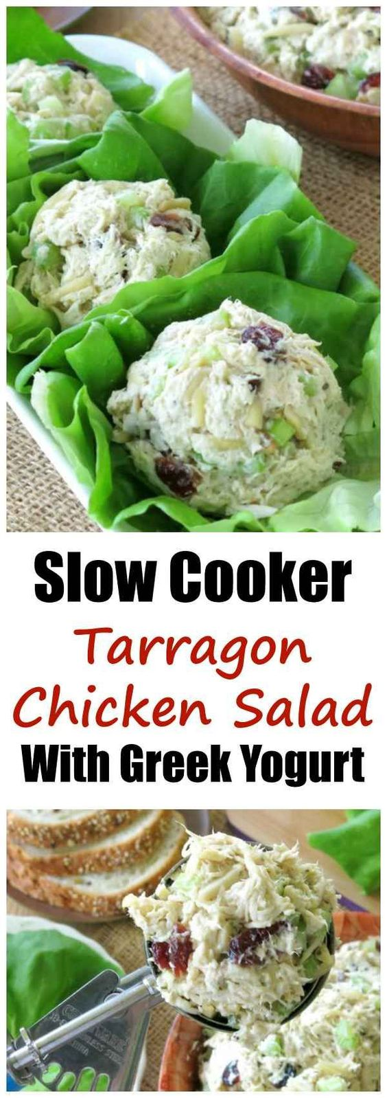 Slow Cooker Tarragon Chicken Salad