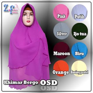 Khimar bergo ala artis OSD model terbaru