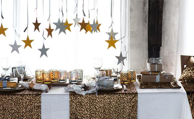 Mesas de Navidad en dorado y plata  Colores en Casa