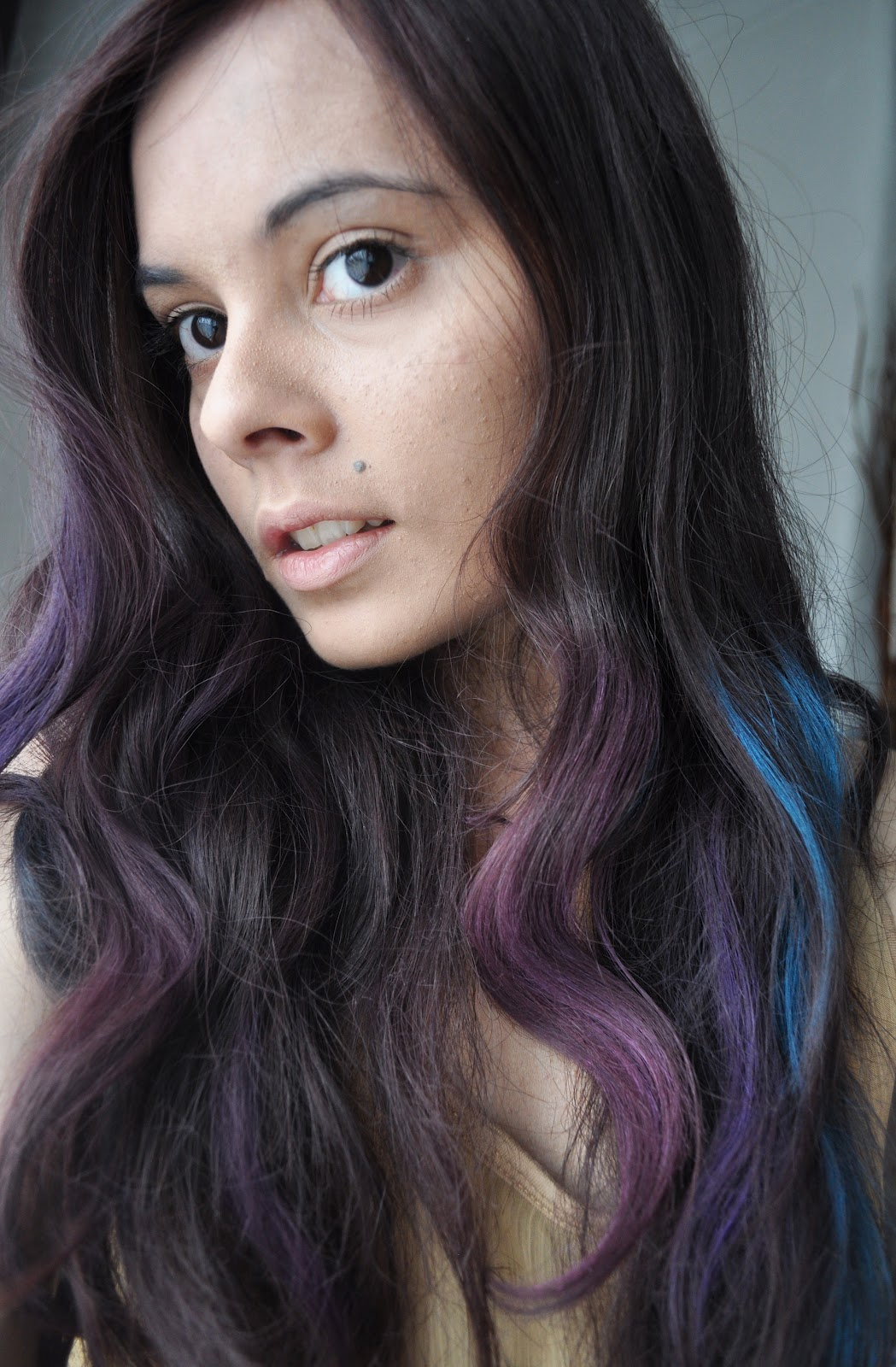 Black Hair With Pastel Highlight