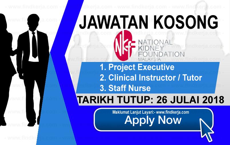 Jawatan Kerja Kosong NKF - Yayasan Buah Pinggang Kebangsaan Malaysia logo www.ohjob.info www.findkerja.com julai 2018