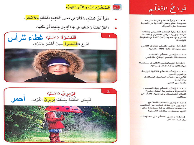 درس معطفي القمرمزي عربي للصف الرابع الفصل الثاني