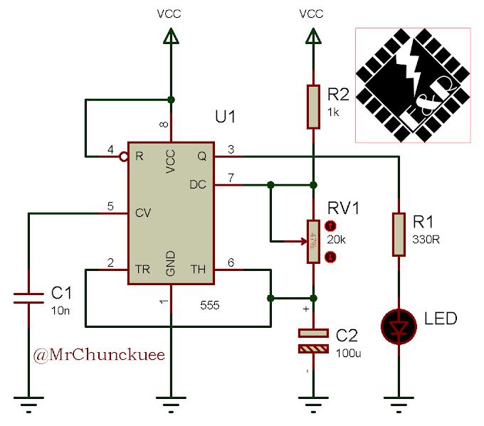 Temporizador o generador de pulsos con 555