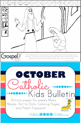 Luke 18:9-14 Pray with Humility Coloring Page