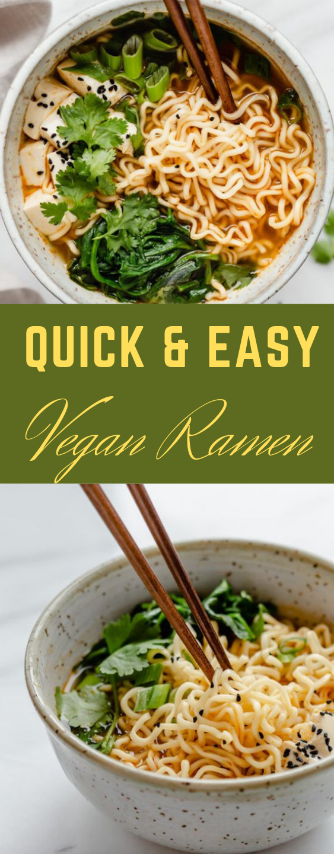 QUICK & EASY VEGAN RAMEN #vegan #ramen