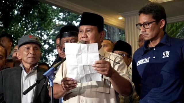Prabowo Bikin Surat Wasiat: Kalau Terjadi Apa-apa terhadap Saya....