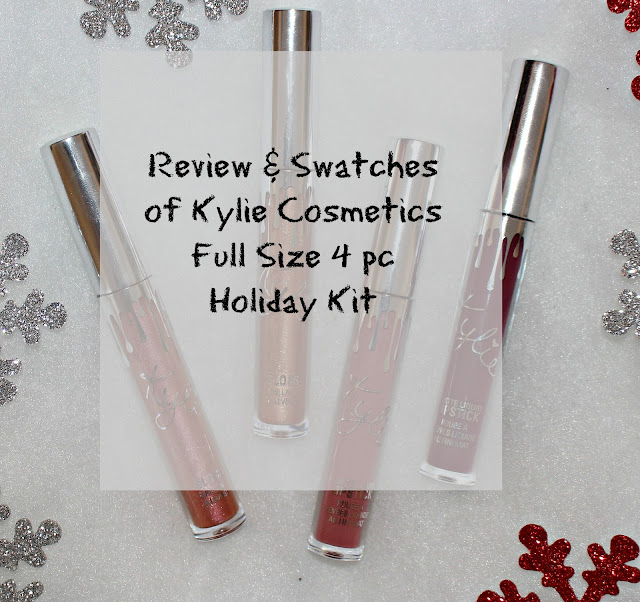 Kylie Cosmetics Holiday 2016 Full Sized 4 PC Lip Set