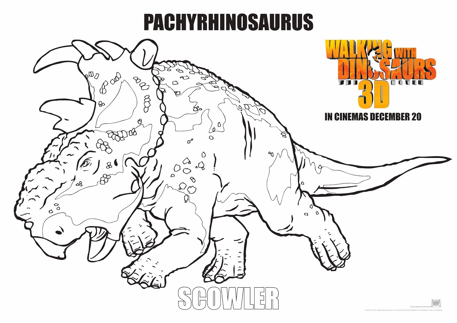 walking with dinosaurs coloring pages - photo #9