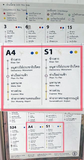 Bangkok Bus Route Board