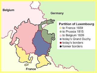 Luxemburgo original y quienes tomaron sus particiones