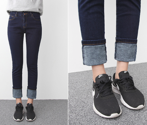 Dark Wash Denim Skinny Pants