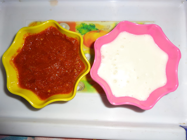 Momos chutney red and white