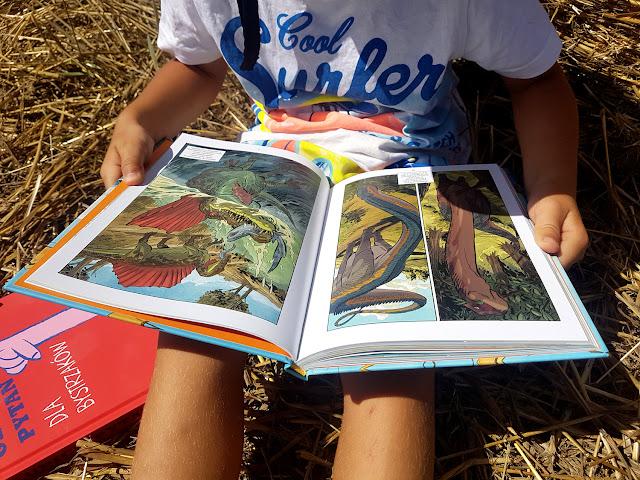 książeczki dla dzieci - Nasza Księgarnia - Dinozaury. Skamieliny i pióra - naukomiks - Reed, Flood - 100 głupich pytań dla bystrzaków - Stephane Frattini
