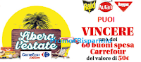 Logo Raid, Autan e Baygon ''Libera l'estate'' e vinci 600 buoni spesa Carrefour da 50€