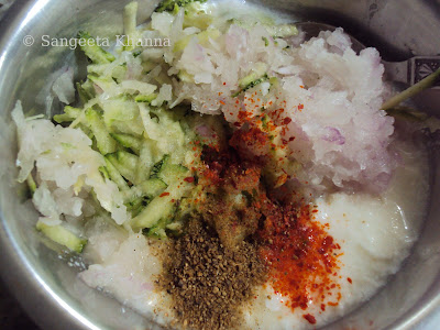 zucchini raita