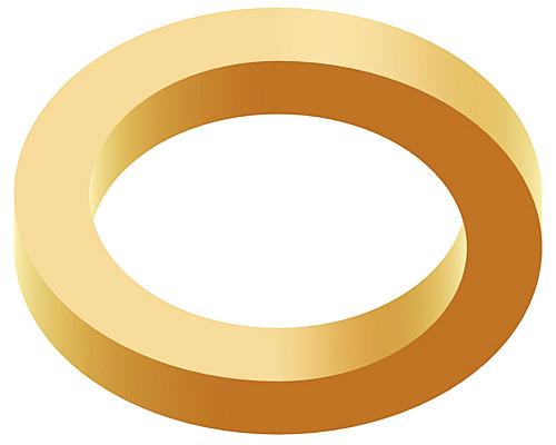 Burulmuş dört köşeli altın bir çember