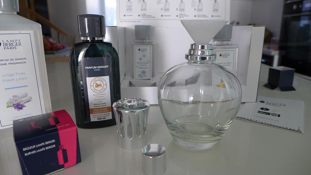 test et utilisation de la lampe berger, le purificateur d'air